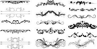 Free Vector Border Design Dividers Free Ornament Floral Vector Dividers Photoshop