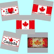 i love canada flag super hot 3d emboss retro license plates vintage tin sign art wall