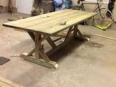 fancy farmhouse table and benches do it yourself home projects from ana white diy
