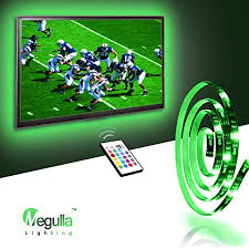 tv accent lighting. Megulla Bias TV Lighting Kit Accent/Ambient Precut USB LED RGB Strip Lights Tv Accent O