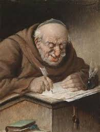 Image result for monk writing
