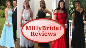 trying on prom dresses from millybridal formal party evening gowns reviews