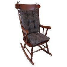 wooden rocking chair with cushion.  Rocking Klear Vu Gripper Polar Chenille Chocolate Jumbo Rocking Chair Cushion Set Throughout Wooden With