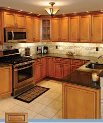 Gorgeous Images Of Kitchen Decoration With Black Granite Kitchen Counter  Tops : Good Looking U Shape
