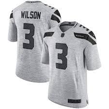 Wilson Seahawks Grey Jersey Russell