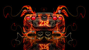 chevrolet corvette zr1 fire abstract car