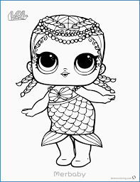 Coloring Pages Lol Dolls Pretty Mermaid Lol Surprise Doll Coloring
