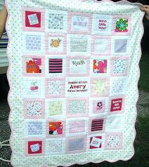 Baby Clothing Quilt First Year Quilt Made Of All The Cutest Bits ... & ... Memorial Quilts Made From Clothing Uk Baby Clothes Quilt Memory Quilt  Heirloom For Your Child Handmade ... Adamdwight.com