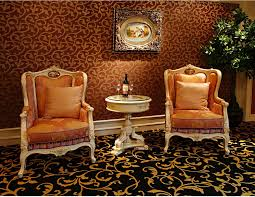 luxury french rococo style living room armchair with coffee table european style elegant wooden carving