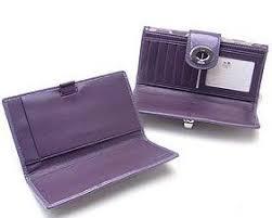 Coach Turnlock Optic Signature Checkbook Wallet 43908