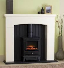 New white mantle black fireplace electric stove fire surround freestanding  fire | Electric stove fire, White mantle and Black fireplace