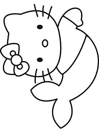 Hello kitty coloring page with few details for kids free hello kitty coloring page to print and color Hello Kitty Mermaid Coloring Pages Free Printable Hello Kitty Mermaid Coloring Pages