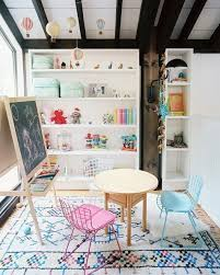 office playroom ideas. a handknotted rug and mobile of hot air balloons add fun pops color to this play space nursery or bedroom diy design idea kick up your home decor office playroom ideas l