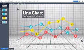 Line Chart Free Prezi Next Template For Data Visualization