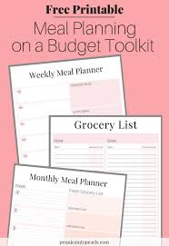 monthly planning guide free printable meal planning on a budget toolkit
