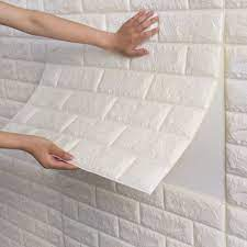 wall panels, White brick wallpaper ...