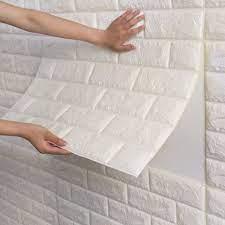 wall panels, White brick wallpaper ...