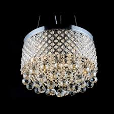 criss cross chrome finish shade warm amber crystal globes chandelier pendant light