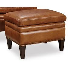 furniture jilian brown leather ottoman hover to zoom
