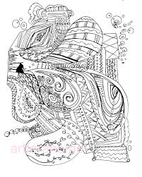 Abstract Art Printable Coloring Pages