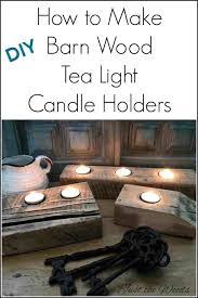 wood candle holders diy barn wood candle holders tea light candle holders made from left over