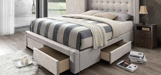 the greyleigh storage beds offer both upholstered and wooden designs with drawers along the footboard and side of the bed with a variety of designs offered