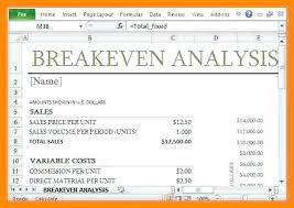 Break Even Template Determine Your Break Even Point With This Template Analysis