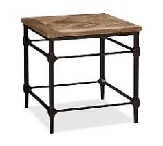 end table. Parquet Reclaimed Wood Side Table End