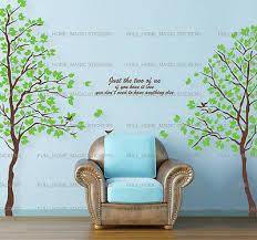 xlarge green twin tree wall stickers