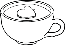 Spotlight Coffee Mug Coloring Page Me For Kids Number 14 Books