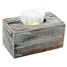 Decorative Kleenex Box Covers Amazon Decorative Rustic Torched Wood Rectangular Facial 3