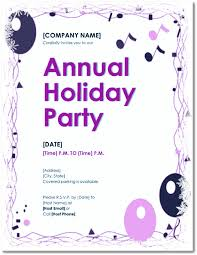 Free Holiday Party Templates Free Holiday Party Invitations 9 Templates In Pdf Word