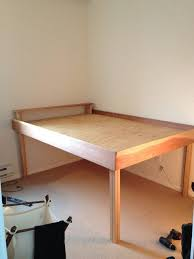 high bed frame cozy innovative tall plans