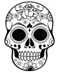 Free Printable Day Dead Coloring Pages Or Skeleton Coloring Pages