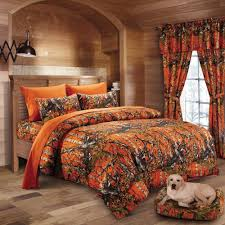 7pc woods orange camo comforter and sheet set king size bedding camouflage 799928148719