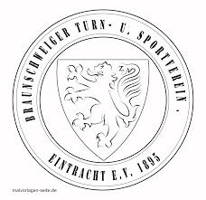 Sjabloonlogo Eintracht Braunschweig Gratis Kleurpaginas Om Te