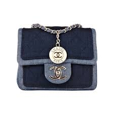 Chanel Quilted Denim Graphic Small Crossbody Flap Bag at 1stdibs &  Adamdwight.com