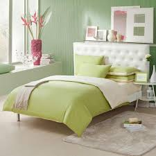 light pink and mantis green solid pure color simply chic full queen size kids space bedding sets