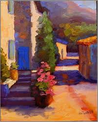 french blues 8x10 oil on board paintings of france provence blue
