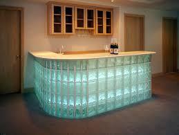 glass block furniture. Custom Radius Glass Block Bar Base Using 8\ Furniture