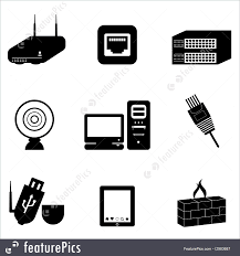 Network Devices Illustration Of Computer And Network Devices