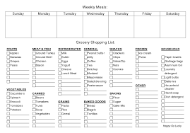 Free Weekly Meal Planner With Grocery List Weekly Meal Planner And Grocery List Free Printable Whole 30