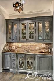 faux finish cabinets. Perfect Cabinets U003c3the Mix Of This Wet Bar Finishes Stainless Brick Custom Faux Wood  Finishes U0026 That The Upper Cabinet Interior Backs Expose Brick Wall For Faux Finish Cabinets S