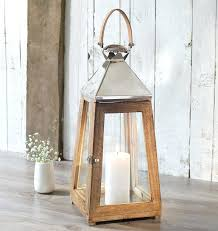 large wooden lanterns our sustainable mango wood candle lantern with a leather handle and high grade large wooden lanterns