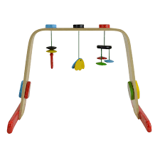 ikea leka baby gym birch multicolor toddler wooden activity toys 0 18m