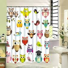 custom fabric shower curtains the diffe kind expressions cute owl bird fabric shower curtain custom print