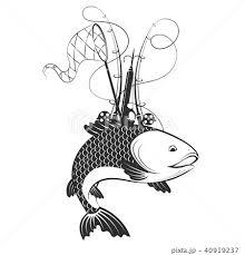 魚つかみ 子供 ベクター 魚のイラスト素材 Pixta