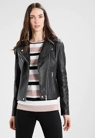 duris jacket leather jacket black