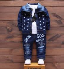 <b>Children's</b> Set 2018 <b>Spring</b> Autumn New Stylish Denim <b>Boys</b> ...