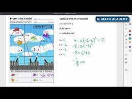 graphing vertex form worksheet jobs